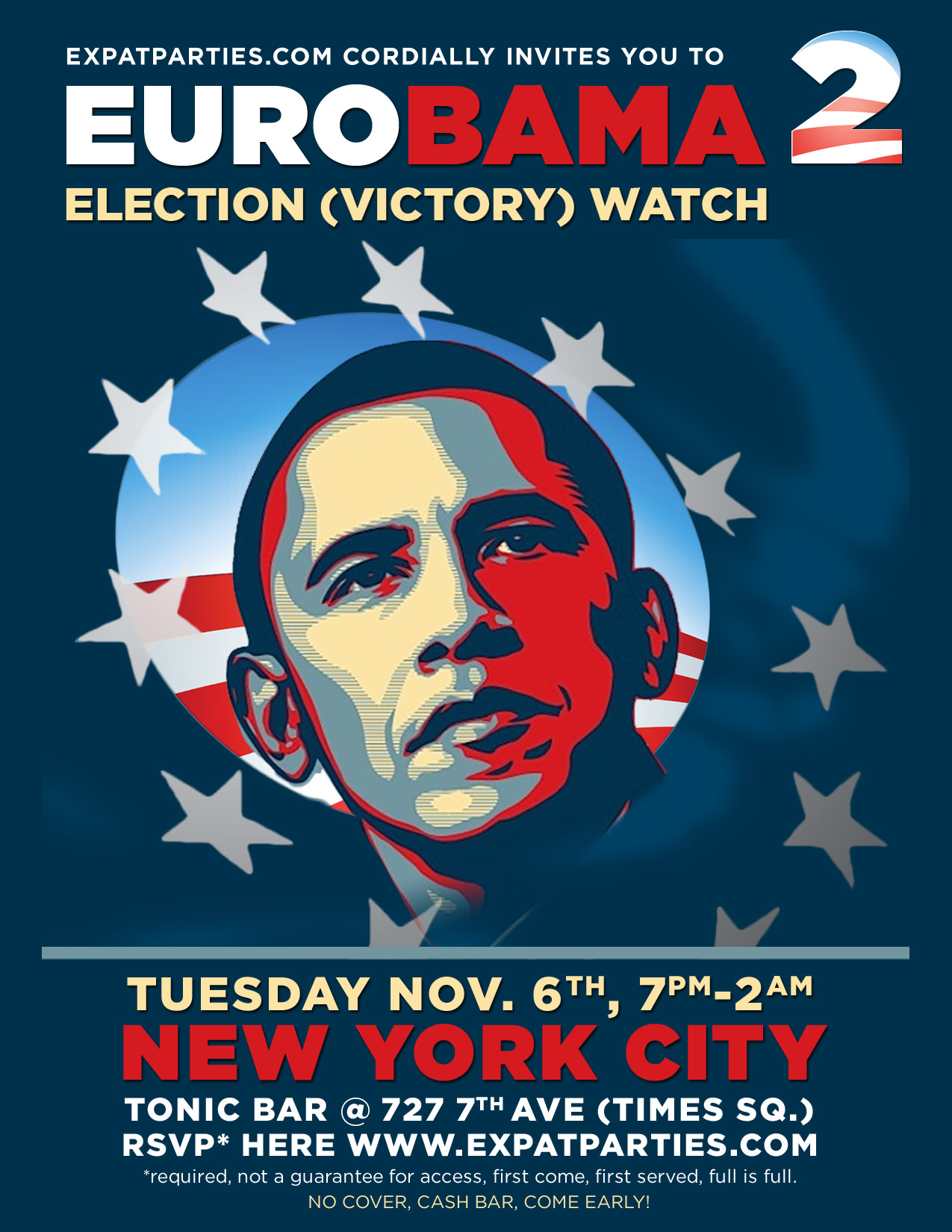 EuroBama 2 - Election Victory Watch Invite 2012